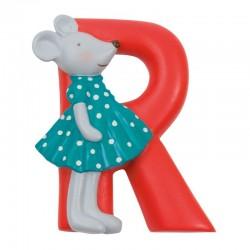 Letra R roja