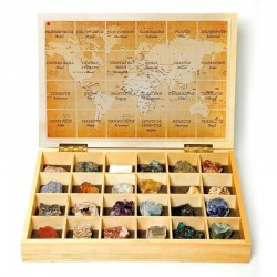Caja madera minerales del...