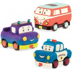 Pack 3 mini coches blandos...