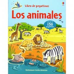 Animales libro pegatinas