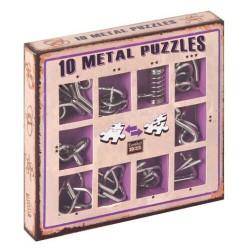 10 Metal puzzles caja violeta