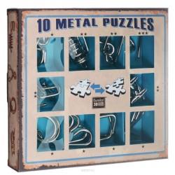 10 Metal Puzzle caja azul
