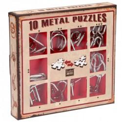 10 Metal Puzzle caja roja