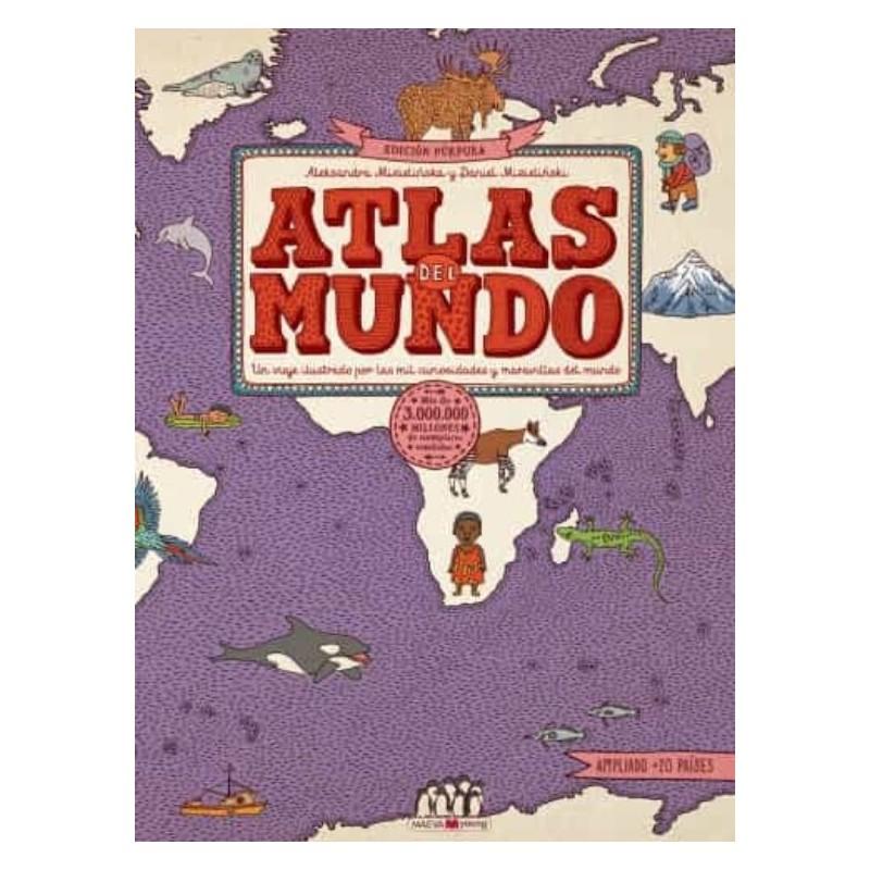 Atlas del mundo. Edición Púrpura Maeva Ediciones Libros El faro de los tres mundos