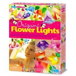 Guirnalda flores y luces
