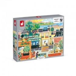Puzle ciudad verde 100 piezas