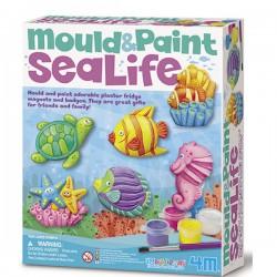 Moldea y pinta la vida marina