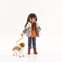 Lottie paseo con el perro