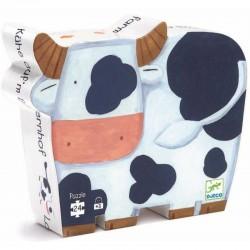 Puzle silueta vaca 24 piezas