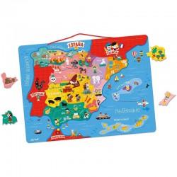 Puzle mapa de España magnético