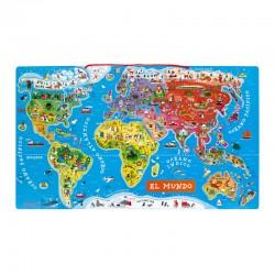 Puzzle mundo magnético